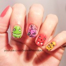 Cute Monster Nails