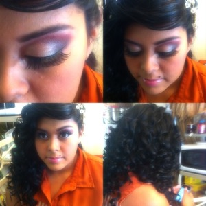 Hair and makeup by me.