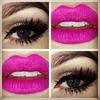Bold lips & sparkly eyes