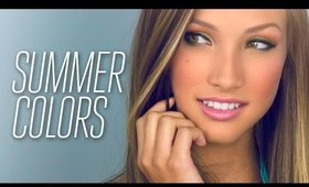 Summer Colors Makeup Tutorial! - Great for Hooded Lids!