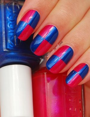 This mani is inspired by Nicole Millers spring 2012 runway nails. A cool look, right?