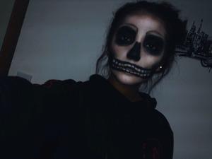 Skull look for Halloween