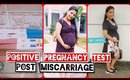 Finding out I am Pregnant After Miscarriage | Positive Pregnancy Test At Home  |SuperPrincessjo