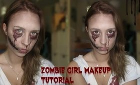 Halloween Makup Tutorial 2013 | Creepy Zombie Girl