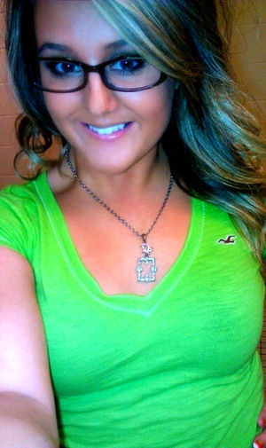 Hollister Lime Green V-Neck