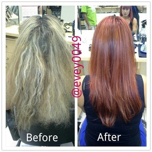 Cut, color, and repair treatment twitter/ig @evey0049
