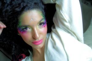 Makeup by yours truly :-) The story of a mermaid...