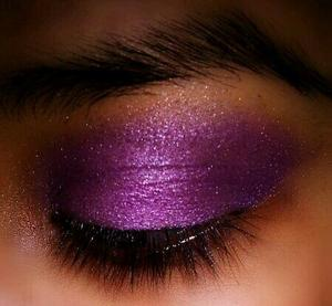 Practice makes perfect. Purple eyeshadow!