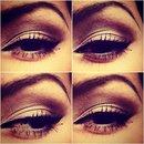 Bronze/brown eye look