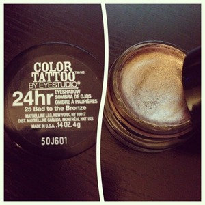 Maybelline's color tattoo eye shadow