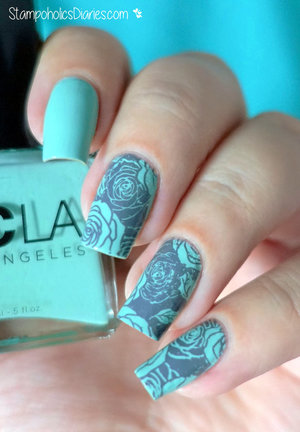 http://stampoholicsdiaries.com/2015/11/03/mint-flower-nails-with-ncla-mundo-de-unas-and-born-pretty/