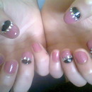 Nails Pink And Black