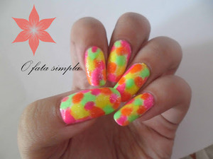 More manicures on my blog ->http://o-fata-simpla.blogspot.ro/2013/06/neons-bright-and-colored-manicure.html