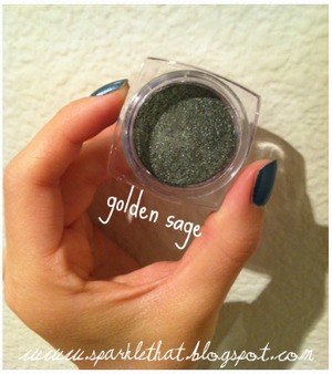 L'Oreal Infallible Shadow! Golden Sage  http://sparklethat.blogspot.com/2011/12/new-loreal-infallible-eyeshadow.html