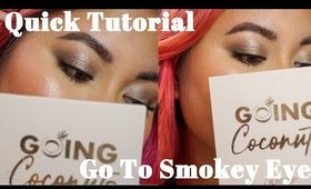 Quick Eye Tutorial: Go To Smokey Eye Colourpop Going Coconuts Palette | Victoria Briana