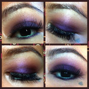 I add on wispy lashes to give this look more sultry