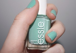 Essie's Turquoise & Caicos. It's a lovely true turquoise color.