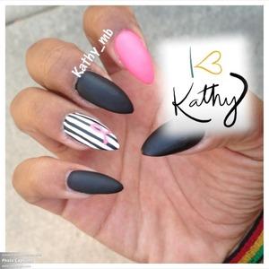 Matte , black matte , stripes
