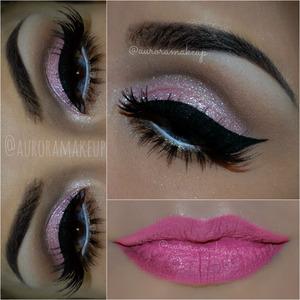 instagram @auroramakeup FB: https://www.facebook.com/AuroraAmorPorElMaquillaje BROWS/ CEJAS : Dip Brow Pomade color EBONY de Anastasia Beverly Hills  EYES/OJOS: Eye primer with firmitol by @tartecosmetics / prebase de sombras con firmitol de tarte cosmetics   Pressed eye Shadows in CAPUCCINO & HOT CHOCOLATE by @motivescosmetics on the crease and below lower lashline / Sombra CAPPUCCINO y HOT CHOCOLATE de Motives by Loren Ridinger en le pliegue del ojo y por debajo de las pestanas inferiores   Cream eye shadow in pink by @motivescosmetics ( discontinued) on mobile eyelid / Sombra en cream color rosa de Motives Cosmetics en el parpado movil ( esta descontinuad este producto)  Pressed Pigment in SWEET ACTING by @maccosmetics on mobile eyelid/ Pigmento comprimido SWEET ACTING de MAC Cosmetics   Gel eyeliner in BLACK by @micabeauty on top lashline / Gel delineador negro BLACk de MicaBeauty en pestanas superiores  Pencil eyeliner in ANGEL by @motivescosmetics on waterline / lapiz delineador blanco ANGEL de Motives Cosmetics en la linea del agua  LASHES/ PESTANAS: H154 & H159 by @eldorafalseeyelashes on top / Son de http://www.eldorashop.co.uk/ las H159 y H154 juntas arriba  Precious by @houseoflashes on bottom / abajo traigo las Precious de House of Lashes   LIPS/LABIOS : La La Moisture Rich Lipstick in IMPATIENT and a soft coat of neon pink pigment by @myomakeup (throught a tissue ) El labial IMPATIENT de Motives cosmetics y una capa ligera de pigmento rosa neon de MYO MAKEUP