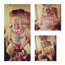my Gran on mothers day she was so happy opening her gift. it's moments like these I cherish