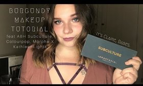 Burgundy Make Up Tutorial feat. Anastasia Beverly Hills Subculture Palette