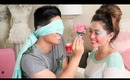 Blindfolded Makeup Challenge With My Boyfriend! ♡ - ThatsHeart