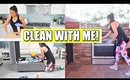 CLEAN WITH ME | Living Room, Outdoor Kitchen, Fridge, Kitchen