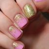 Pink & gold glitter gradients