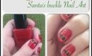 Vlogmas Day 9  Santa's Buckle Nail Art