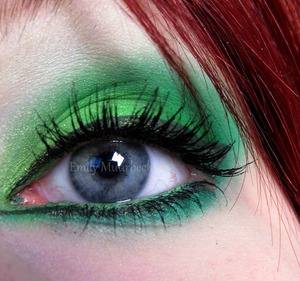 Green eyeshadow using 120 palette