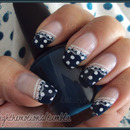 Polka Dot Nails w/ Lace