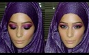 Purple & Pink Smokey Eid Makeup Tutorial Feat. Hijab-ista.com Shimmer Hijab