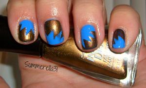 Sally Hansen Xtreme Wear Pacific Blue and Sally Hansen Insta-Dri Bronze Ablaze