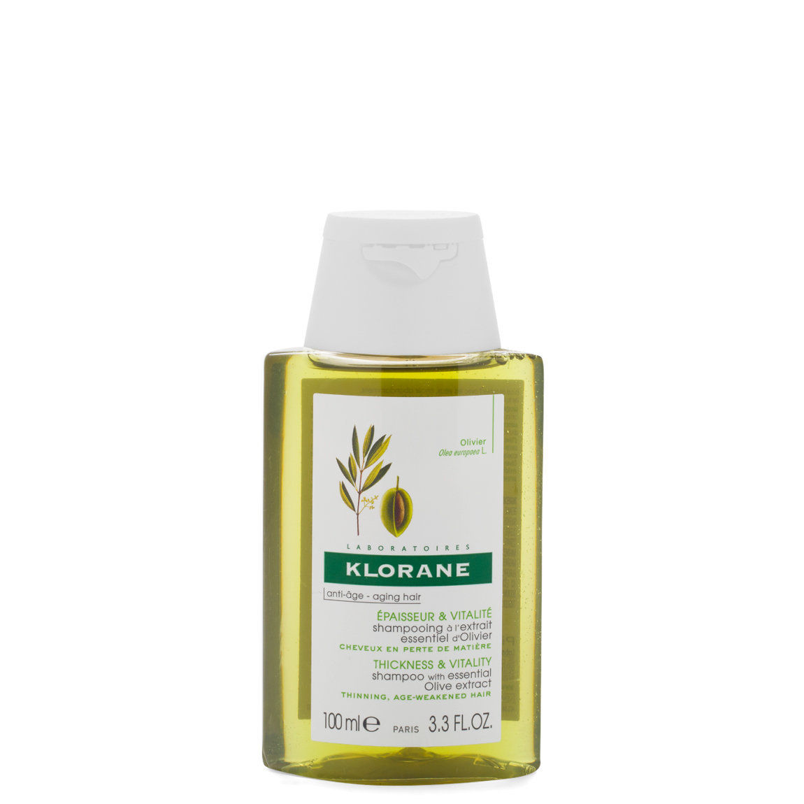 Klorane Shampoo with Essential Olive Extract 3.3 oz alternative view 1 - product swatch.