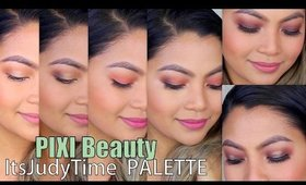 6 MAKEUP LOOKS using *ItsJudyTime + PIXI BEAUTY* Palettes