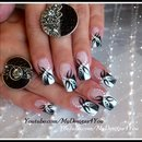 Black And White Abstract Nail Art Design Tutorial