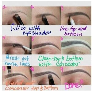 Filling In Dark Sparse Eyebrows. | Beautylish