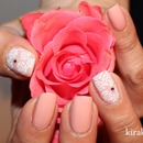 Elegant Rose Nail Design