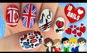 1D Nails - One Direction Nail Art
