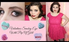 Valentines Smokey Eye, With A Pop Of Gold