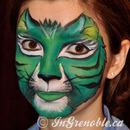 Fantasy cat face paint