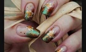 Golden Autumn Nail Art Tutorial