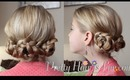 Loose Braided Buns Updo