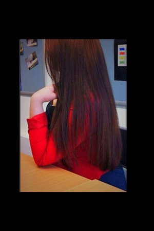 Straight hair...