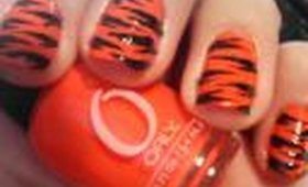 Howto: Tiger Stripes nail design. nail tutorial