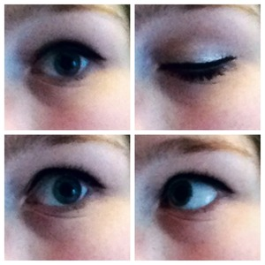 This is what I usually wear to school. It's just silver and black liner and mascara. Takes me about 5mins in the morning.