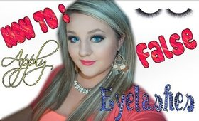 How to Apply FALSE Eyelashes! The Easiest Way : Kate Phillips