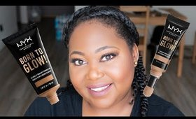 NYX Born To Glow Foundation and Concealer Review
