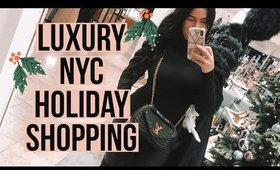 LUXURY NYC CHRISTMAS SHOPPING SPREE & Outfits I Louis Vuitton, TIFFANY, LV New Wave Vlogmas