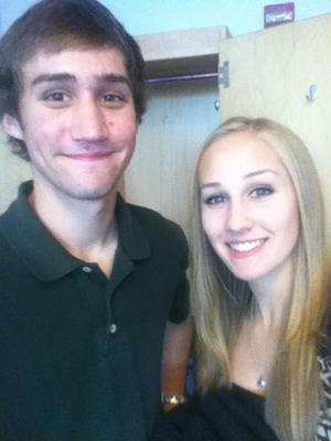 my brother David and me in his new college dorm <3